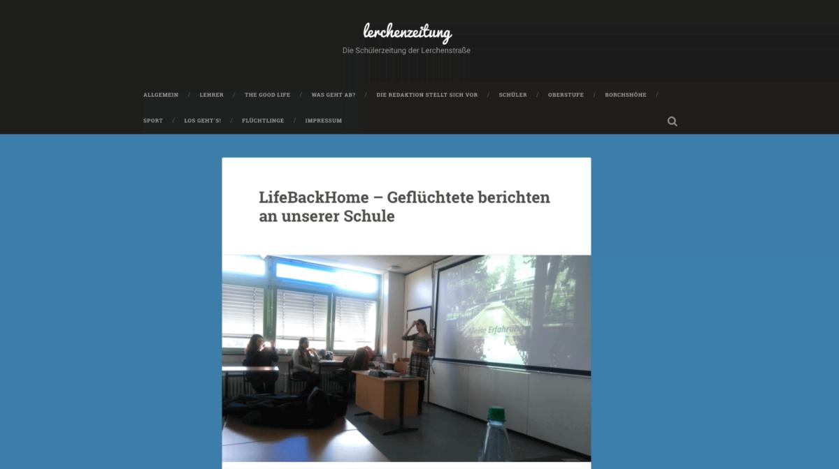 Schülerzeitung der Oberschule an der Lerchenstraße in Bremen, 11.11.16