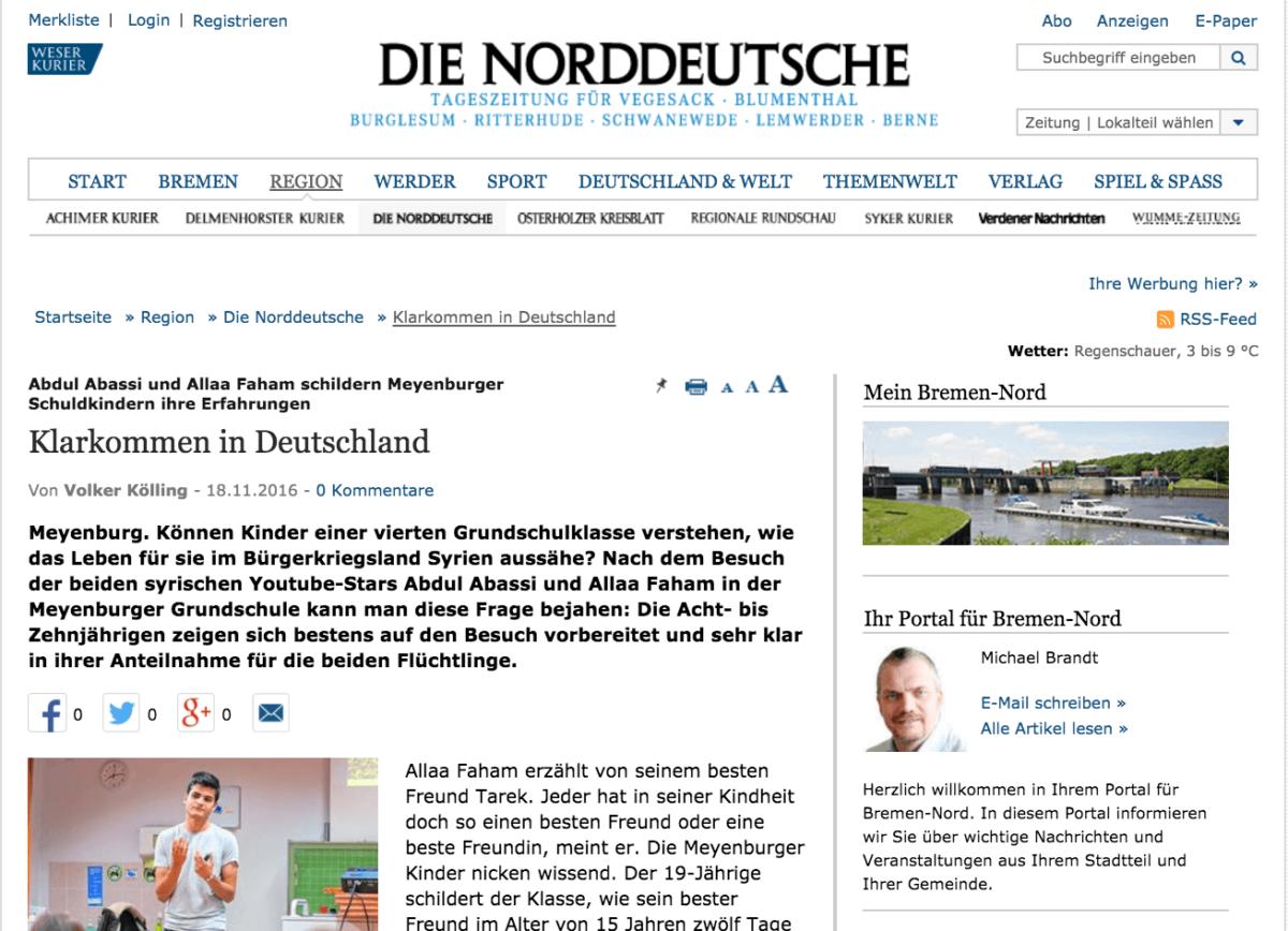 Klarkommen in Deutschland