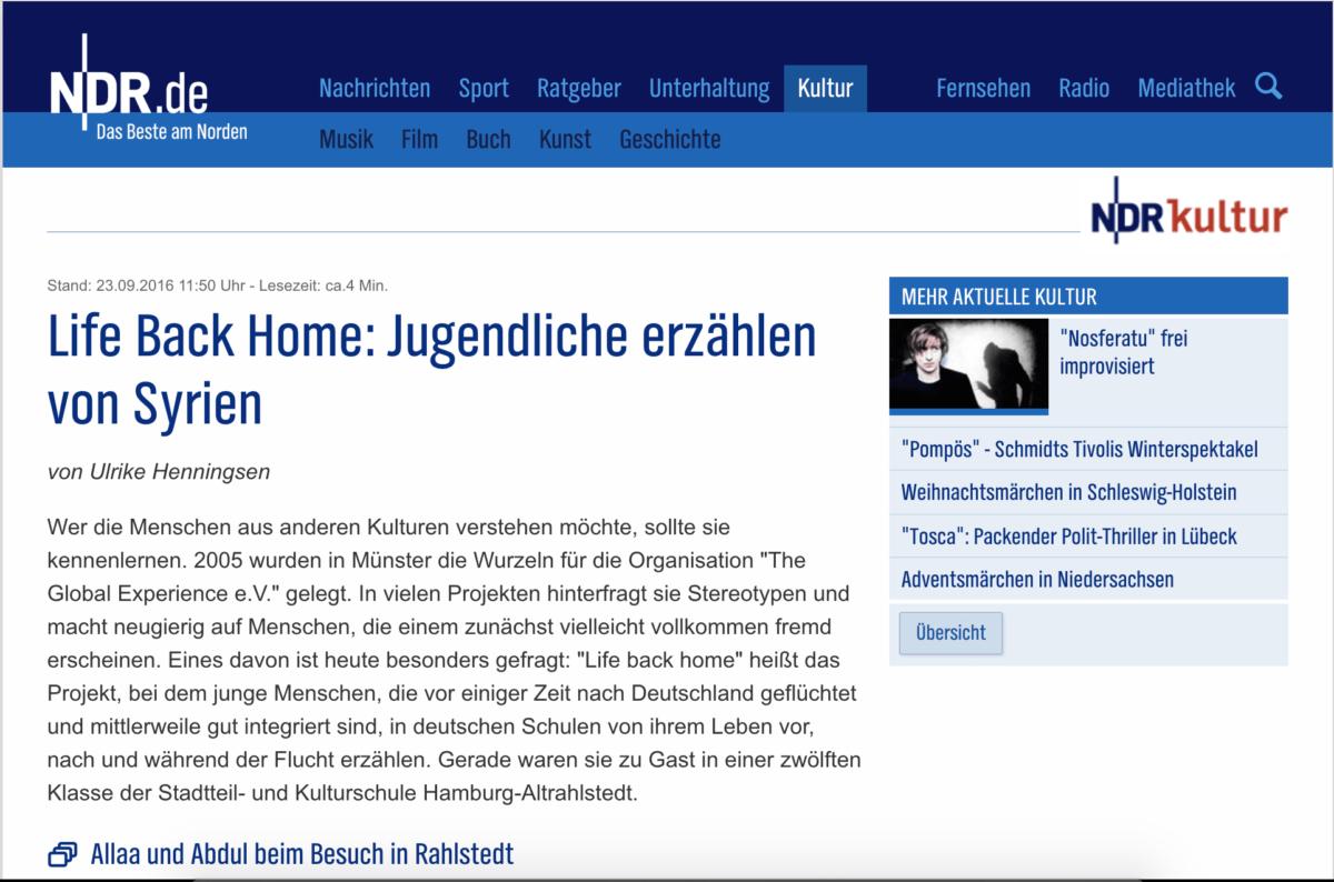 NDR Kultur, 23.09.2016
