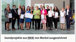 Sozialprojekte aus NRW von Merkel ausgezeichnet