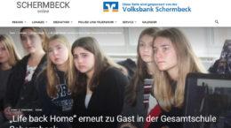 """""""Life back Home"""" erneut zu Gast in der Gesamtschule Schermbeck"""